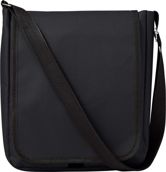 Polyester (190T + 600D) shoulder bag - Black