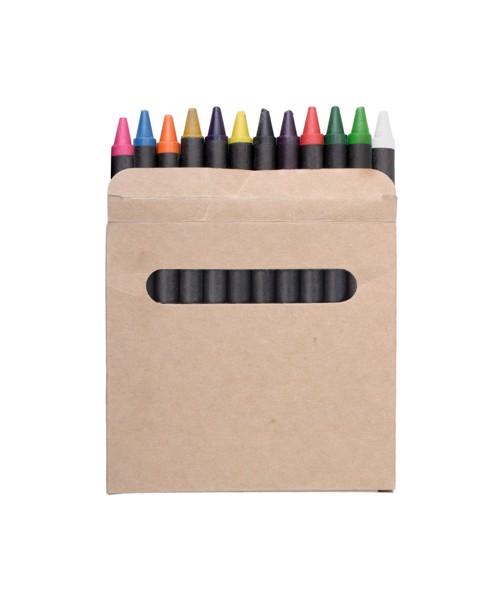 Creioane Cerate Lola, 12 Buc - Negru / Bej