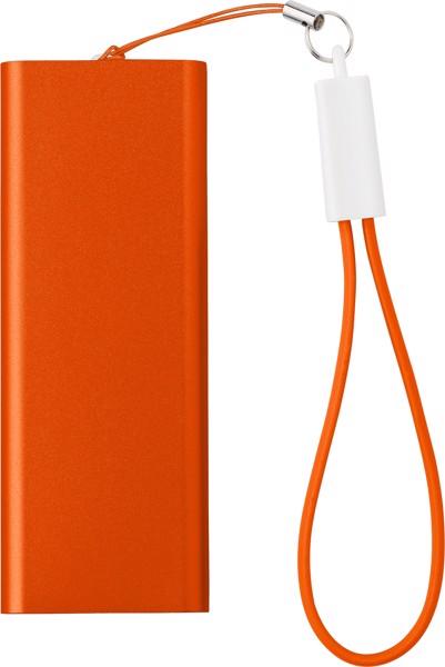 Aluminium power bank - Orange