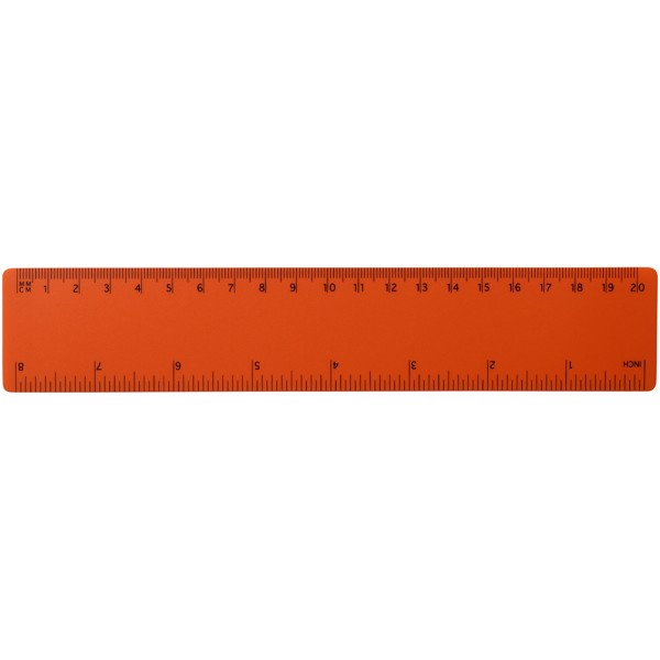 Rothko 20 cm plastic ruler - Orange
