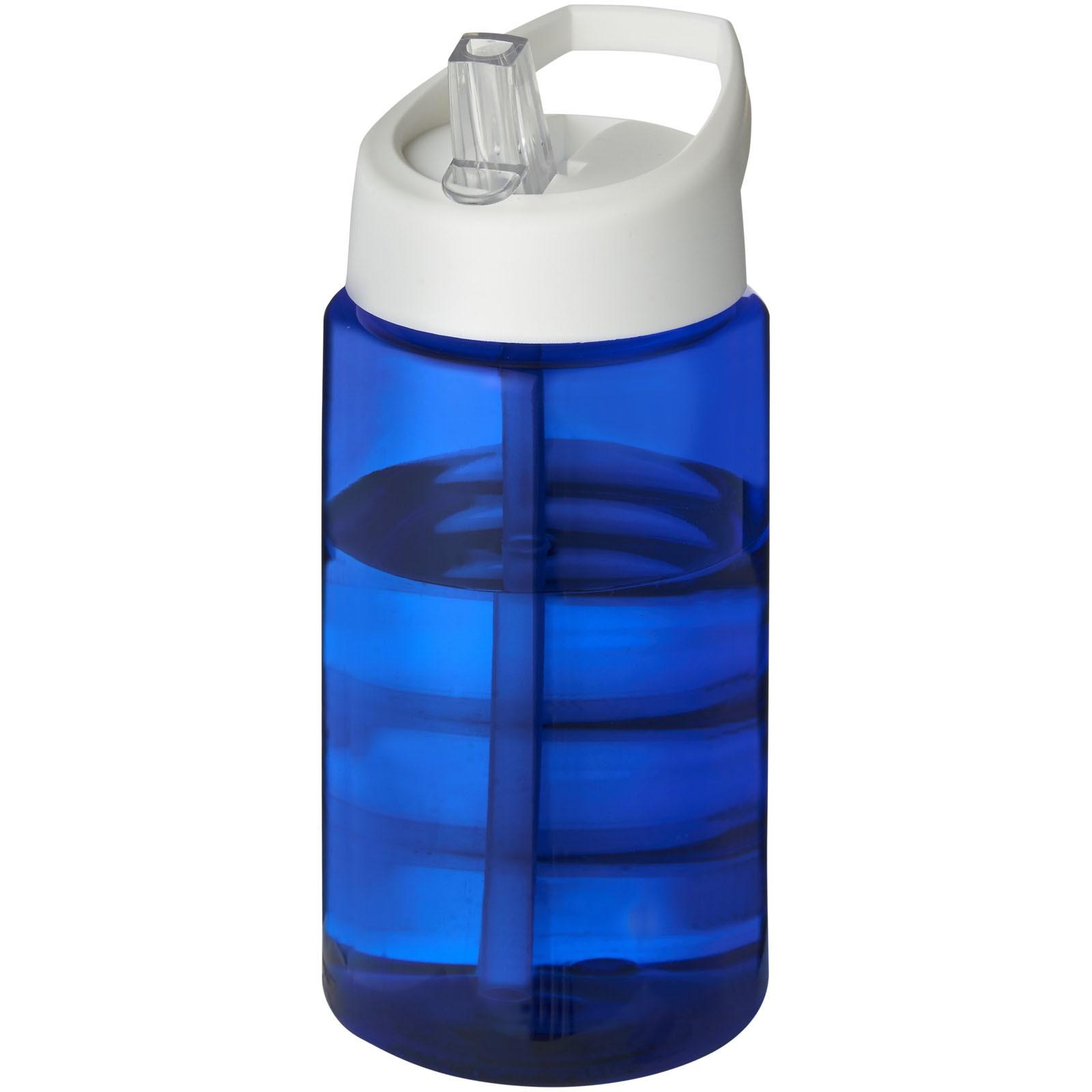 Sportovní láhev svíčkem shubičkou H2O Bop 500 ml - Modrá / Bílá