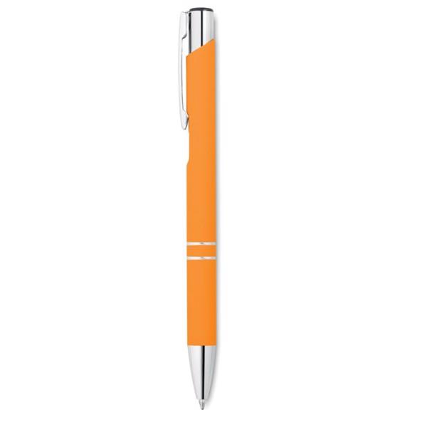 Długopis z gumowym wykończenie Aosta - pomarańczowy