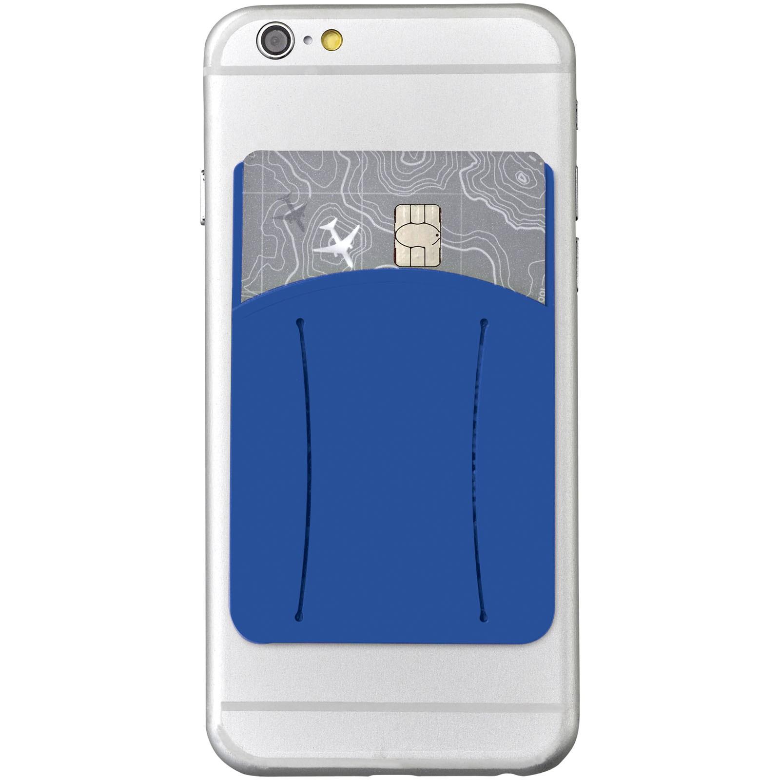 Silikonové pouzdro na kartu k telefonu - Světle modrá