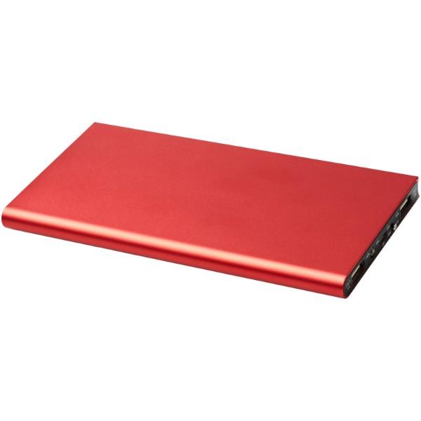 Hliníková powerbanka Plate 8000 mAh - Červená s efektem námrazy