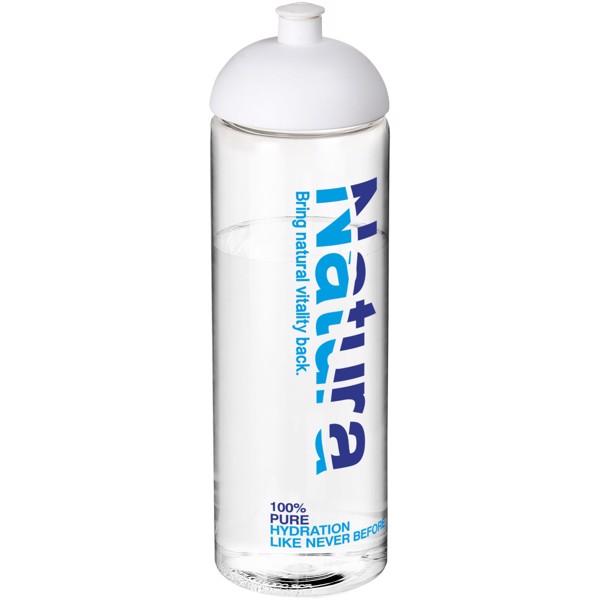 H2O Vibe 850 ml dome lid sport bottle - Transparent / White