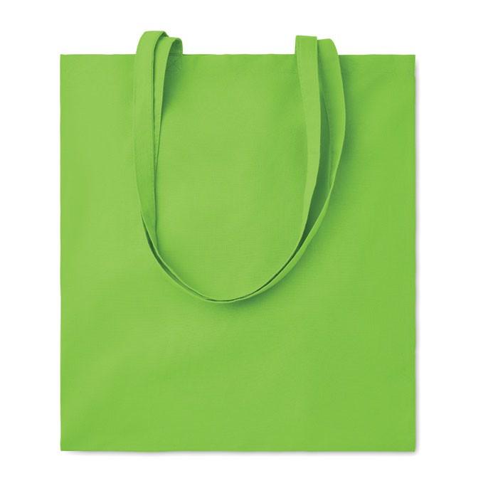 Cotton shopping bag 140 gr/m² Cottonel Colour + - Lime