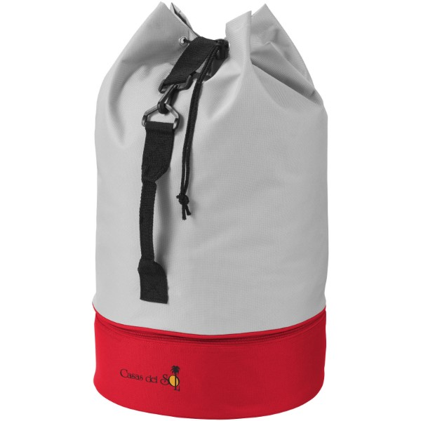 Dipp sailor duffel bag - Grey / Red