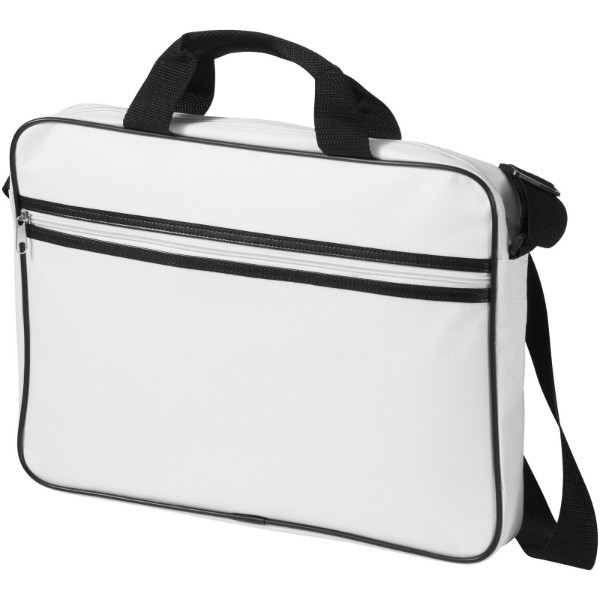 "Knoxville 15.6"" laptop conference bag - White / Solid black"