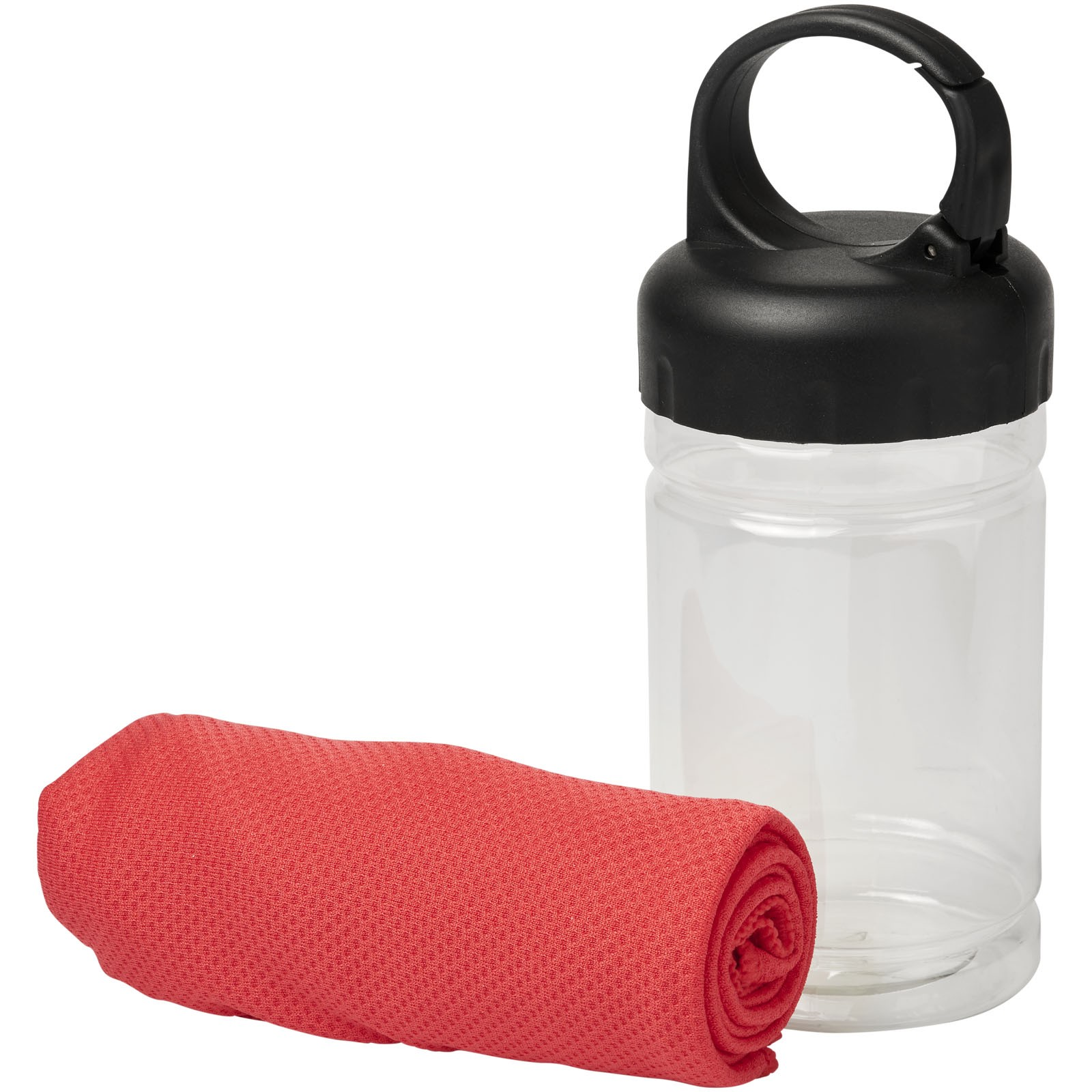 Remy cooling towel in PET container - Red