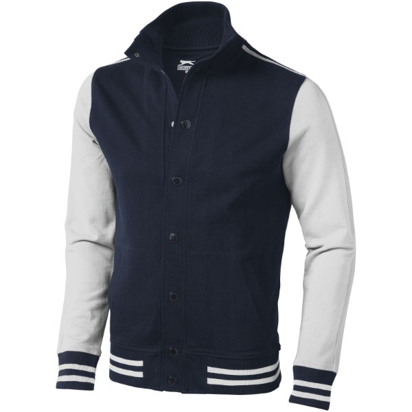 Varsity sweat jacket - Navy / Off white / XXL
