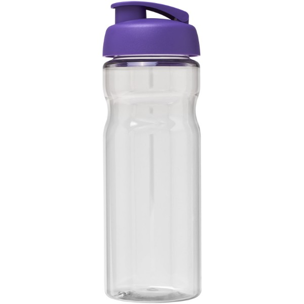 H2O Base® 650 ml flip lid sport bottle - Transparent / Purple