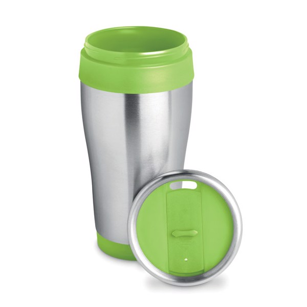 Stainless steel cup 455 ml Tram - Lime