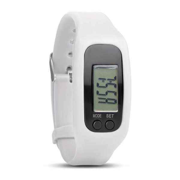 Pedometer bracelet Bratara - White