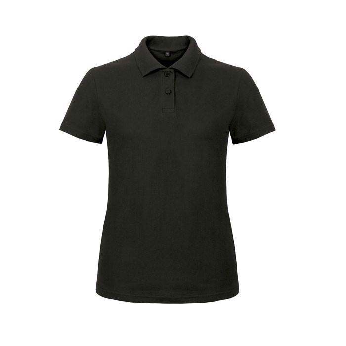 Damen Polo Shirt 180 g/m2 Pique Polo Id.001 Women Pwi11 - Black/Black Opal / 3XL