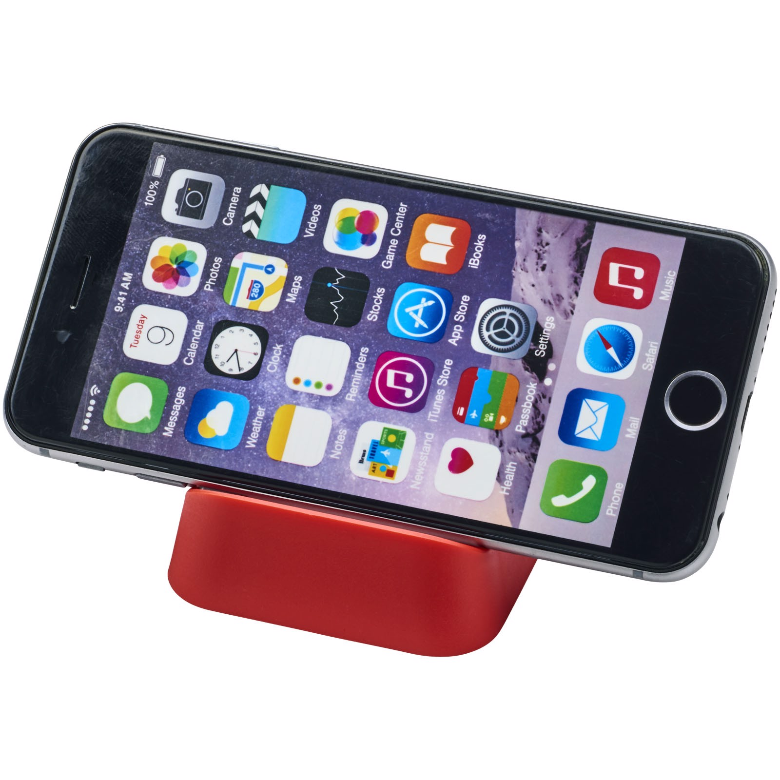 Crib phone stand - Red