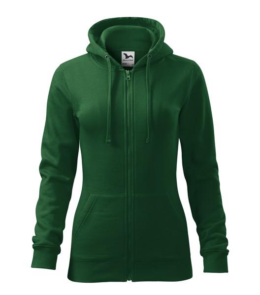 Sweatshirt women's Malfini Trendy Zipper - Bottle Green / M