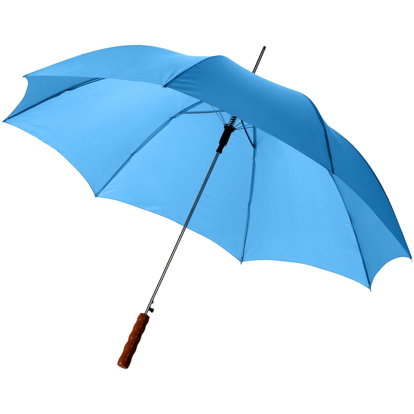 """23"""" deštník Lisa s automatickým otvíráním a dřevěnou rukojetí - Process Blue"""