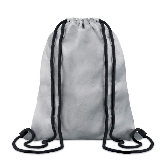 Športna torba z vrvicami iz materiala tyvek, srebrna Tyshoop