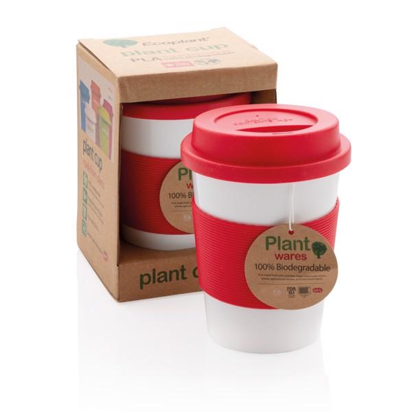PLA kávésbögre - Piros / Fehér