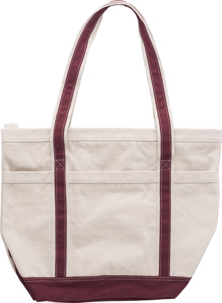 Cotton (500 gr/m²) shopping bag - Maroon