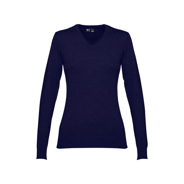 THC MILAN WOMEN. Dámský svetr s výstřihem do V - Námořnická Modrá / S