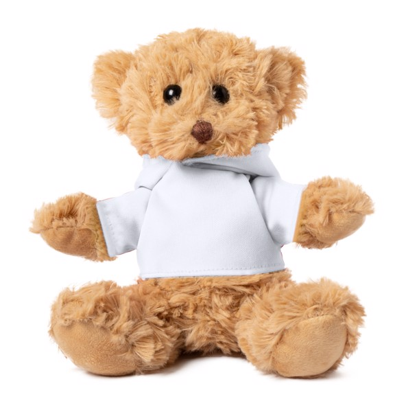 Teddy Bear Loony - White / Brown