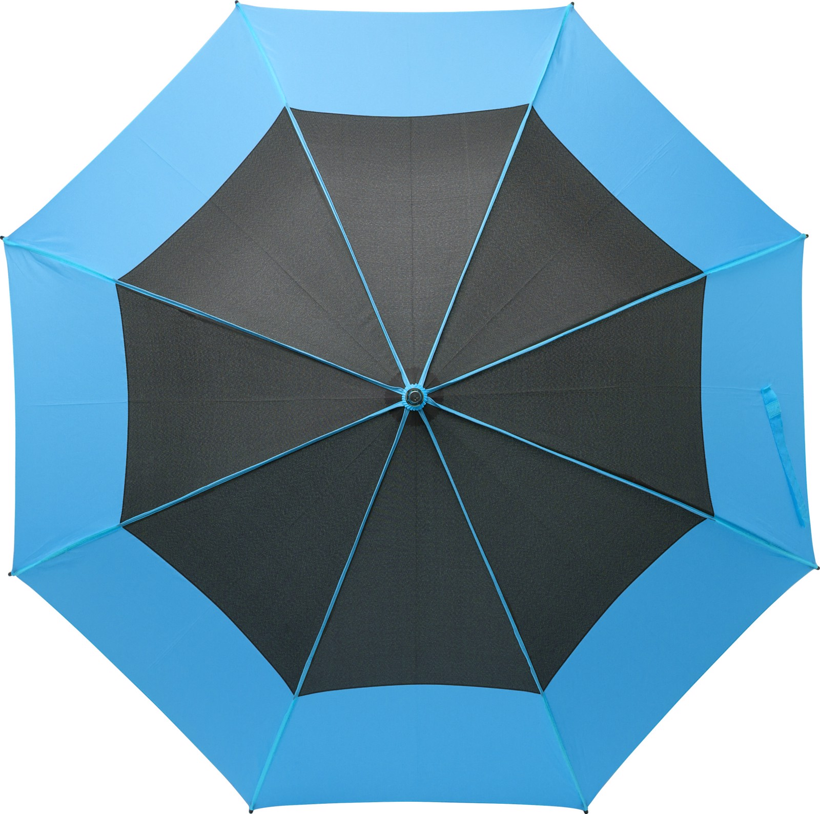 Pongee (190T) storm umbrella - Light Blue