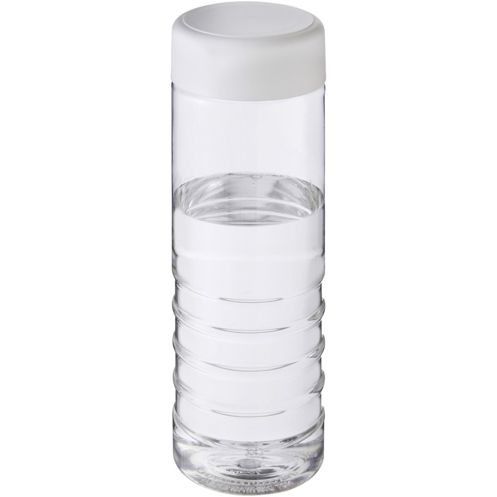 H2O Treble 750 ml screw cap water bottle - Transparent / White