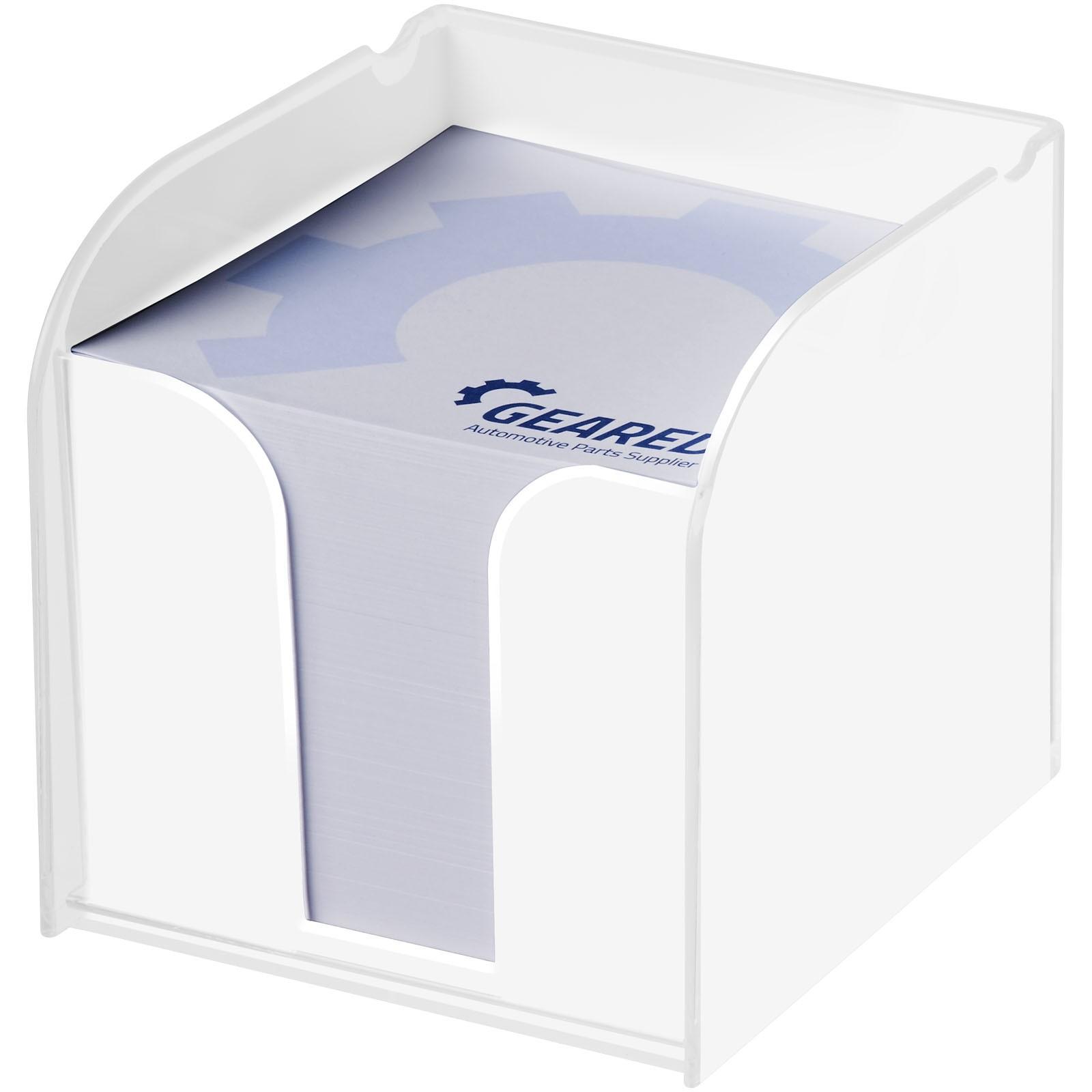 Vessel memo block with memo paper - White
