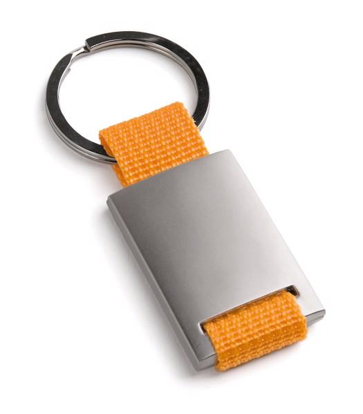 GRIPITCH. Metal keyring - Orange