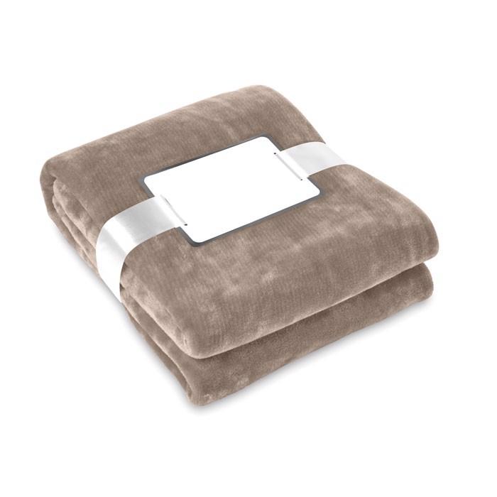 Blanket flannel Davos - Khaki