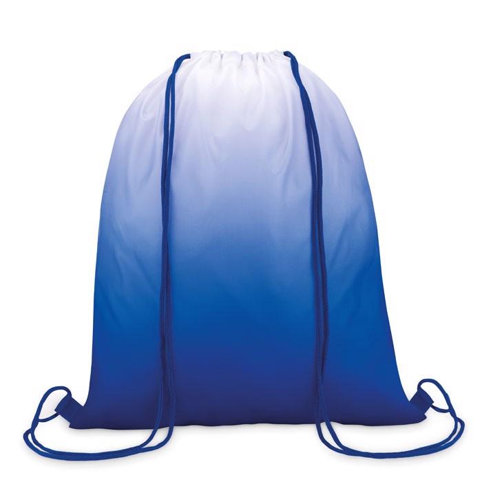 210D polyester drawstring bag Fade Bag - Royal Blue