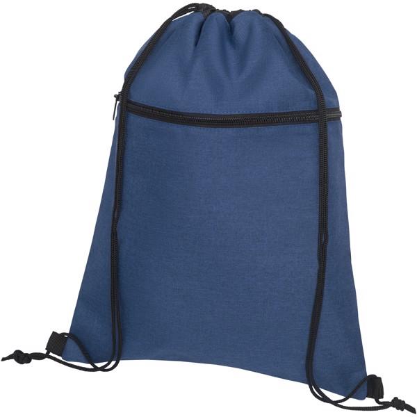 Hoss drawstring backpack - Heather navy