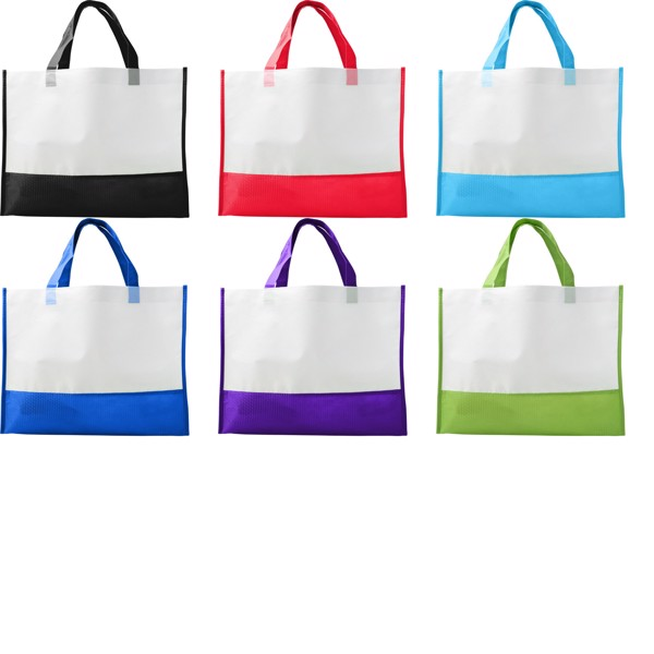 Nonwoven (80 gr/m²) shopping bag - Red