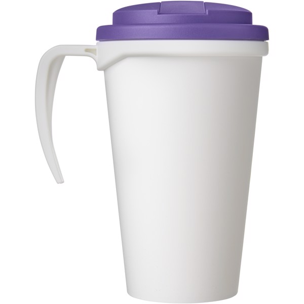 Americano Grande 350 ml mug with spill-proof lid - White / Purple