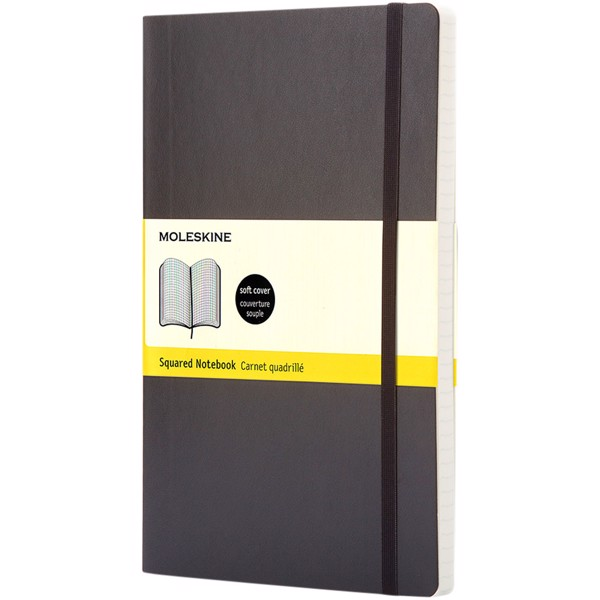 Classic PK soft cover notebook - squared - Solid Black