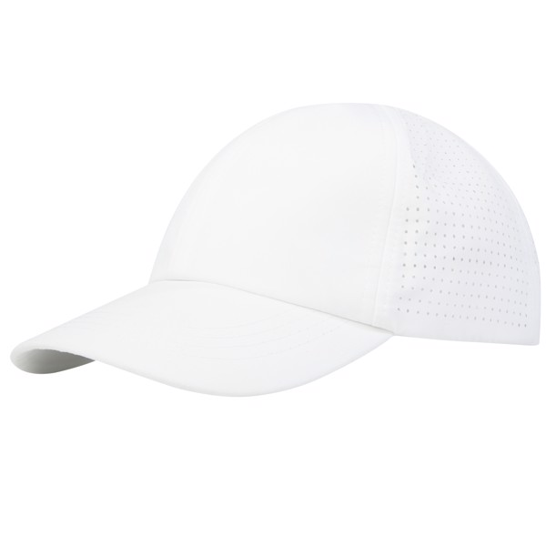 Mica 6 panel GRS recycled cool fit cap - White