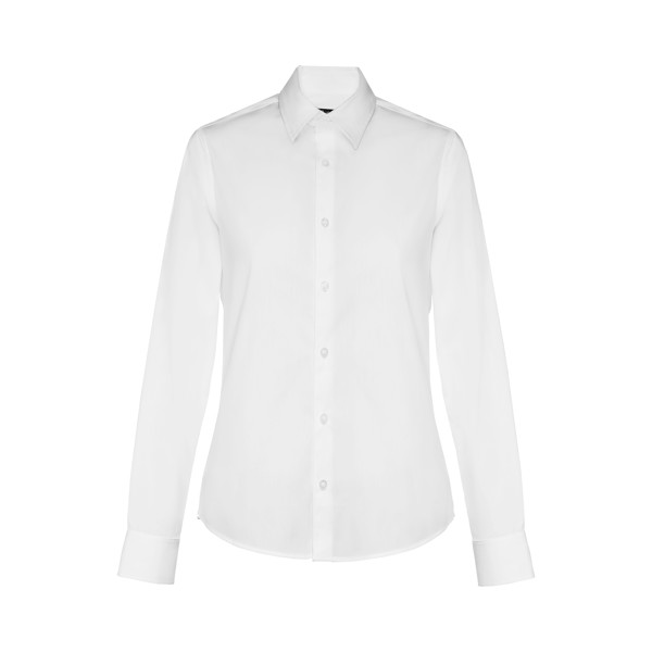 PARIS WOMEN. Women's poplin shirt - White / XXL