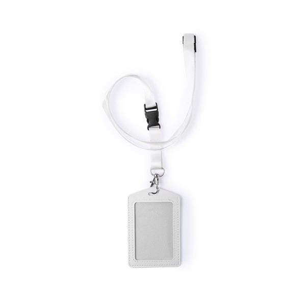 Id Badge Lanyard Zornit - White