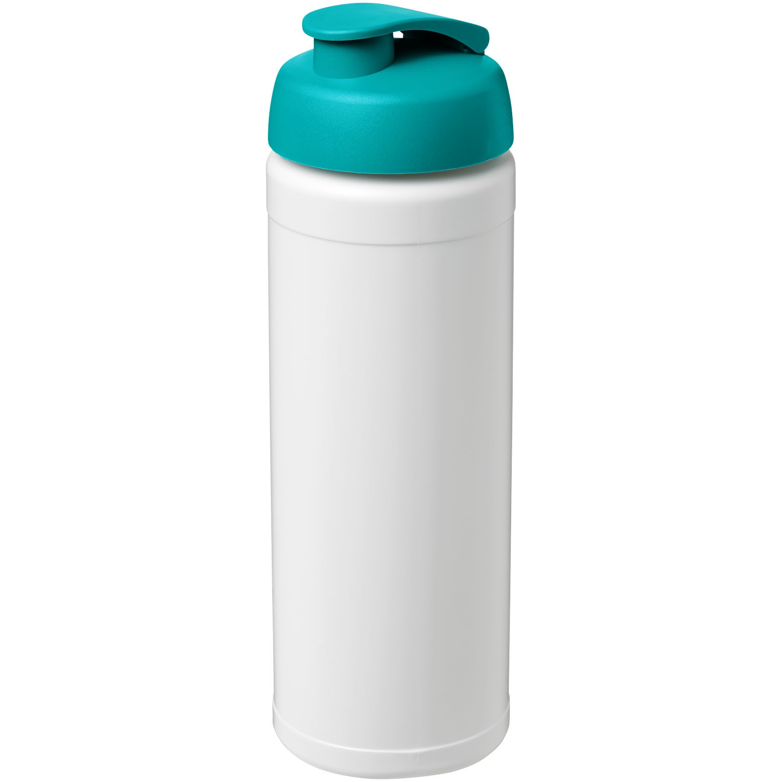 Baseline® Plus 750 ml flip lid sport bottle - White / Aqua