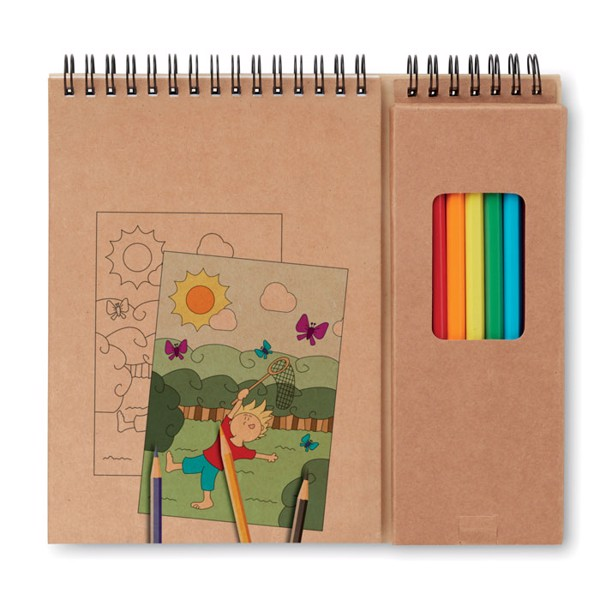 Colouring set with notepad Colopad