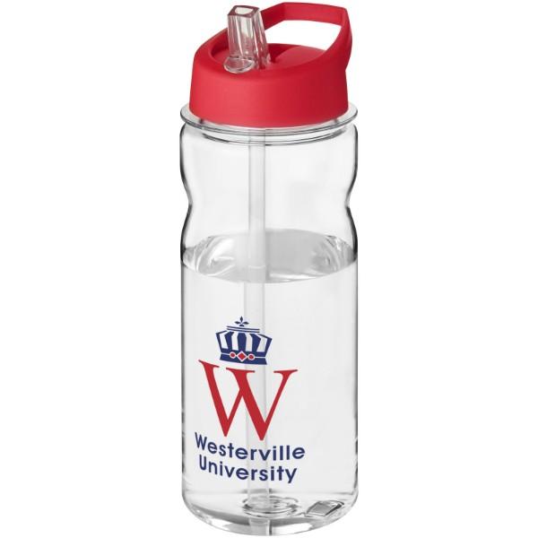 H2O Base Tritan™ 650 ml spout lid sport bottle - Transparent / Red