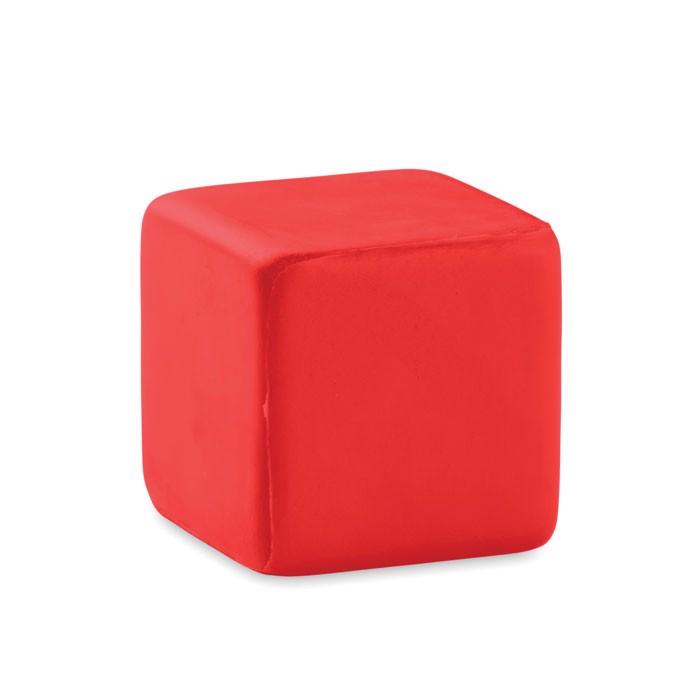 Antystres kwadrat Squarax - czerwony
