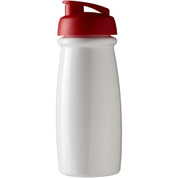 Sportovní láhev s vyklápěcím víčkem H2O Pulse® 600 ml - Bílá / Červená s efektem námrazy