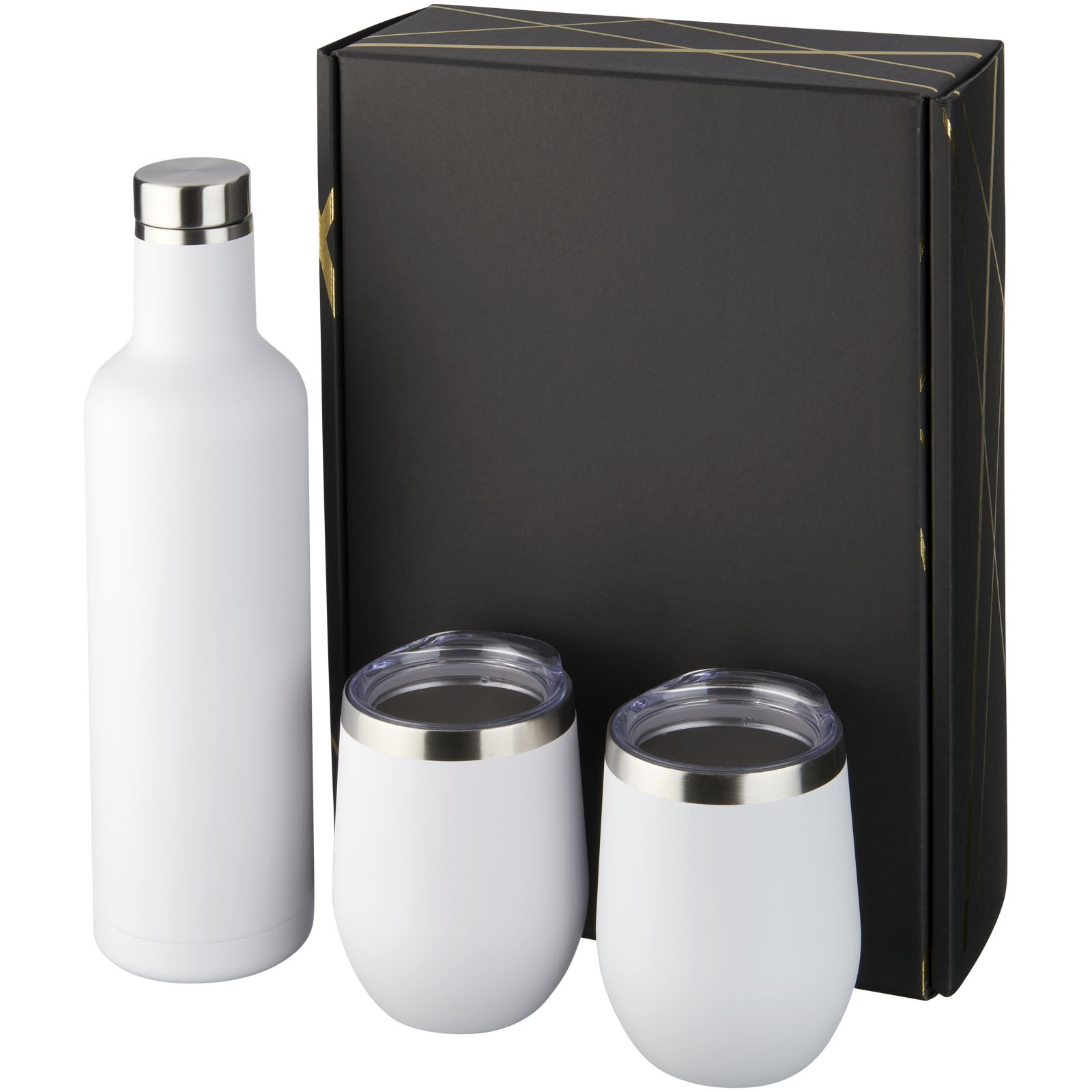 Pinto and Corzo copper vacuum insulated gift set - White