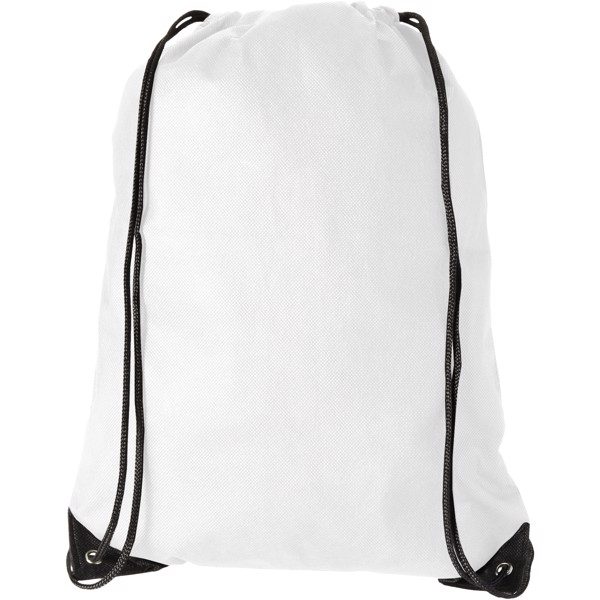 Evergreen non-woven drawstring backpack - White
