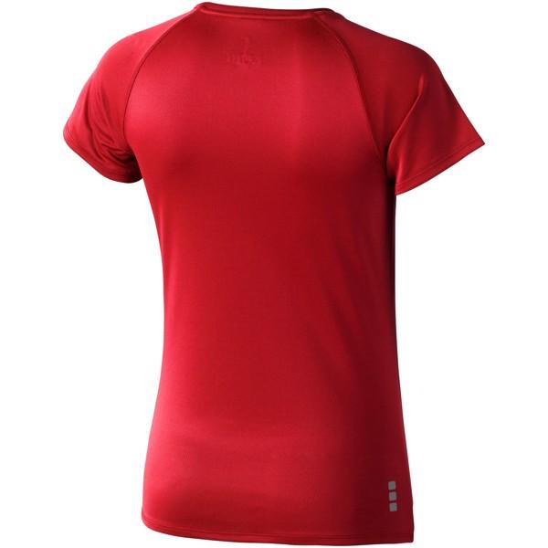 Dámské Tričko Niagara s krátkým rukávem, cool fit - Červená s efektem námrazy / L