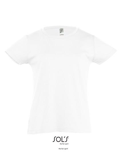 Kids` T-Shirt Girlie Cherry - White / 10 years (130-140)