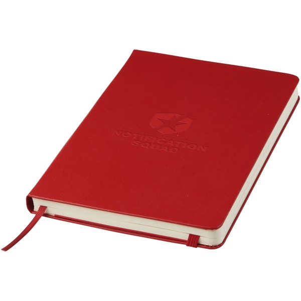 Classic L hard cover notebook - ruled - Scarlet red