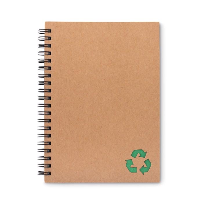 70 lined sheet ring notebook Piedra - Green